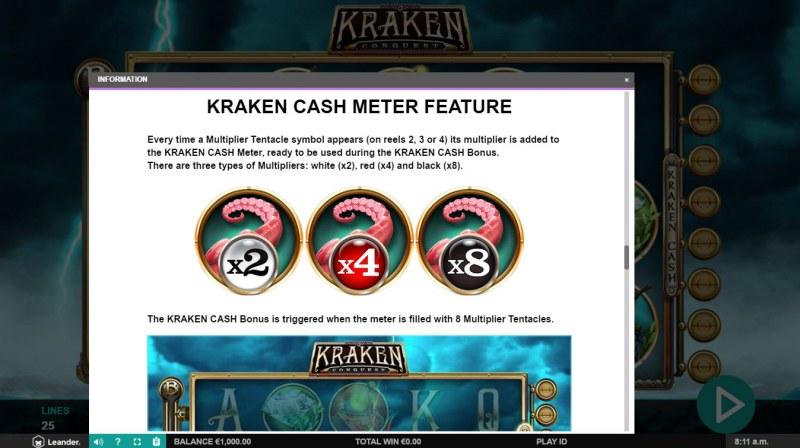 Kraken Conquest :: Kraken Cash Meter Feature