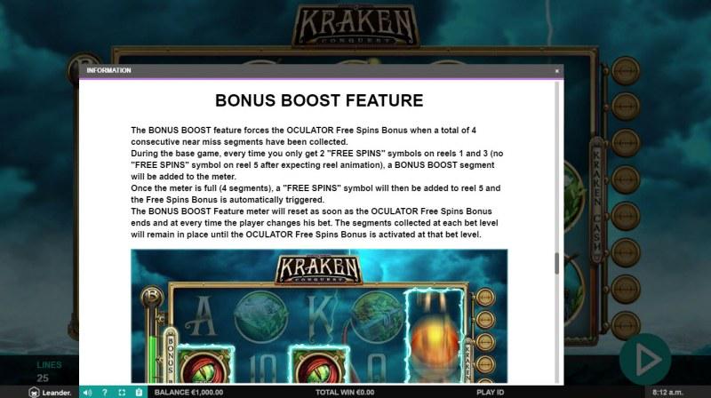 Kraken Conquest :: Bonus Boost Feature
