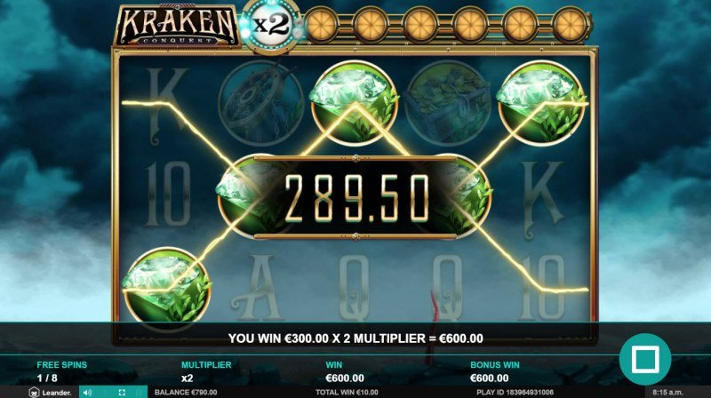 Kraken Conquest :: Free Spins Game Board