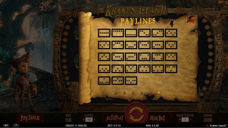 Kraken Island :: Paylines 1-27