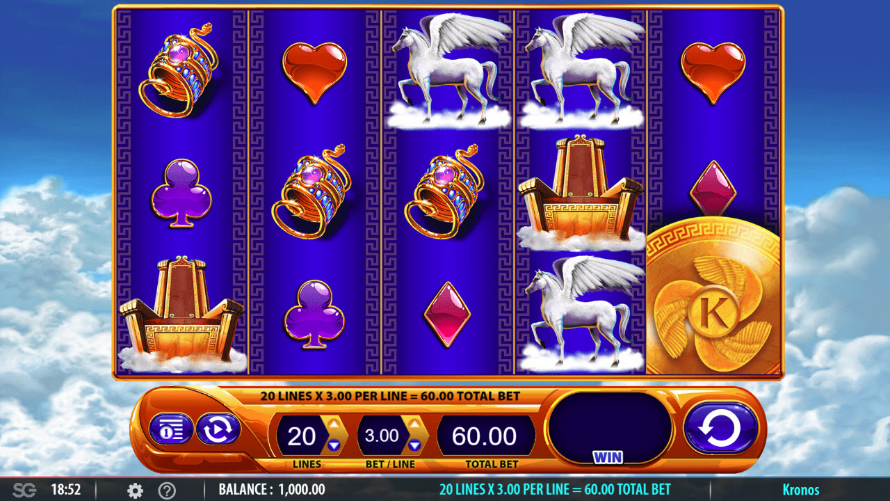 Play slots at Vegas Winner: Vegas Winner featuring the Video Slots Kronos with a maximum payout of $250,000