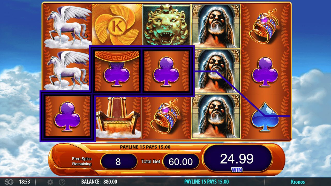 Kronos :: Free Spins Game Board