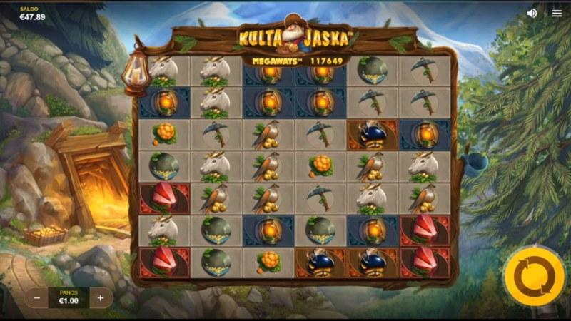 Kulta Jaska Megaways :: Main Game Board