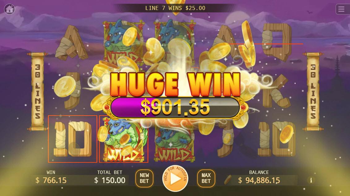 Kung-Fu Kash :: Huge Win