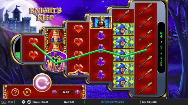 Knight's Keep :: Multiple winning paylines