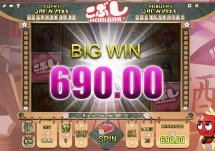 Mongoose Casino featuring the Video Slots Kobushi with a maximum payout of Jackpot