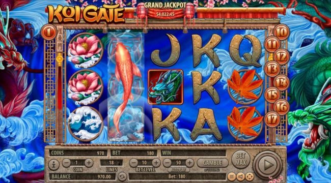 Play slots at 21 Dukes: 21 Dukes featuring the Video Slots Koi Gate with a maximum payout of $2,500,000