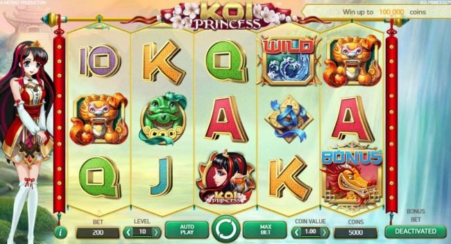 Play slots at Freaky Vegas: Freaky Vegas featuring the Video Slots Koi Princess with a maximum payout of $1,000,000