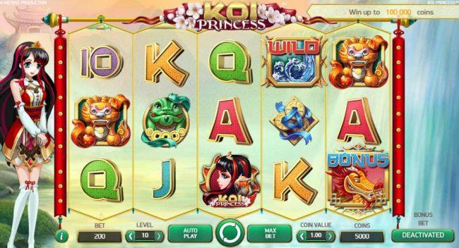 Play slots at 24K Casino: 24K Casino featuring the Video Slots Koi Princess with a maximum payout of $1,000,000