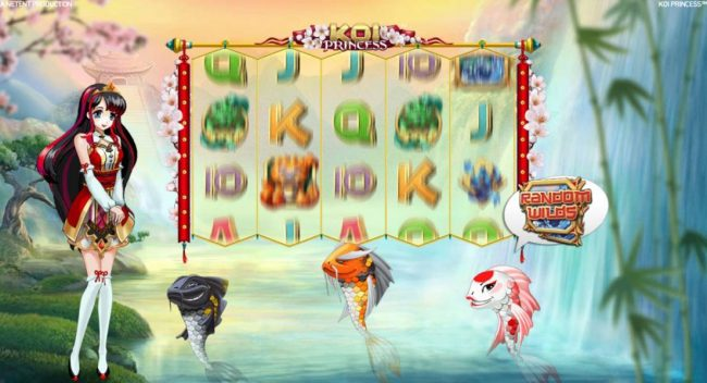 Spinzilla featuring the Video Slots Koi Princess with a maximum payout of $1,000,000