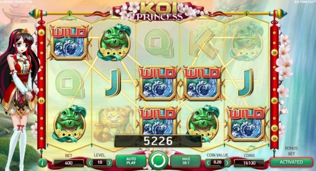 Dream Vegas featuring the Video Slots Koi Princess with a maximum payout of $1,000,000