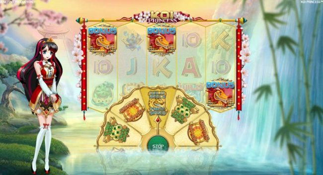 Play Hippo featuring the Video Slots Koi Princess with a maximum payout of $1,000,000