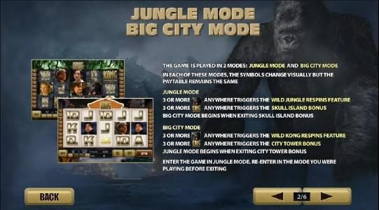 KONG The 8th wonder of the world :: jungle mode and big city mode