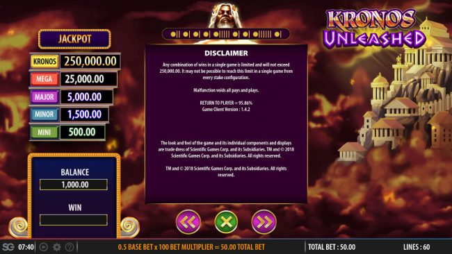 Kronos Unleashed :: General Game Rules