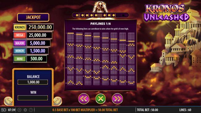 Kronos Unleashed :: Paylines 1-40