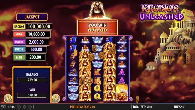 Kronos Unleashed :: Total Free Spins Payout