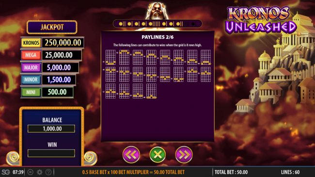 Kronos Unleashed :: Paylines 41-60