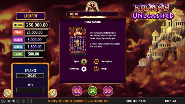 Kronos Unleashed :: Reel Game