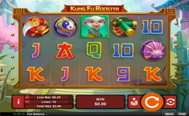 Play slots at Casino Brango: Casino Brango featuring the Video Slots Kung Fu Rooster with a maximum payout of $12,500