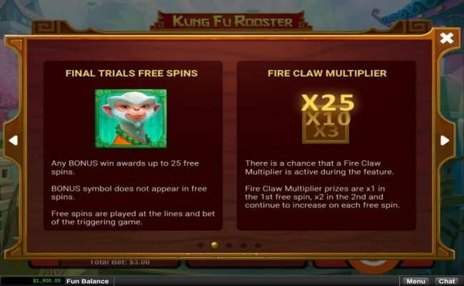 Casino Midas featuring the Video Slots Kung Fu Rooster with a maximum payout of $12,500