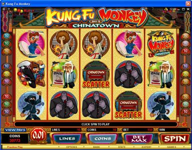 Play slots at Golden Palace: Golden Palace featuring the Video Slots Kung Fu Monkey with a maximum payout of $25,000