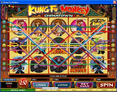Betive featuring the Video Slots Kung Fu Monkey with a maximum payout of $25,000