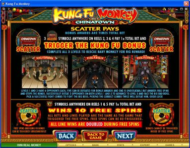 Vegas Joker featuring the Video Slots Kung Fu Monkey with a maximum payout of $25,000