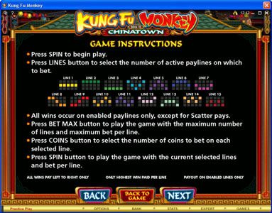 Challenge featuring the Video Slots Kung Fu Monkey with a maximum payout of $25,000