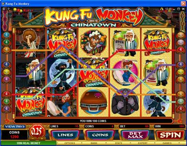 Videoslots featuring the Video Slots Kung Fu Monkey with a maximum payout of $25,000