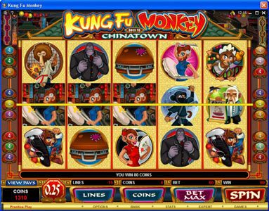 Wild Jackpots featuring the Video Slots Kung Fu Monkey with a maximum payout of $25,000