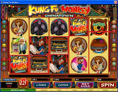 YouWin featuring the Video Slots Kung Fu Monkey with a maximum payout of $25,000