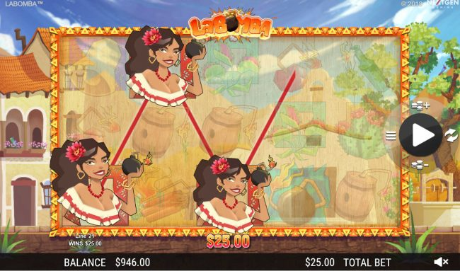 Reel Vegas featuring the Video Slots La Bomba with a maximum payout of $12,500