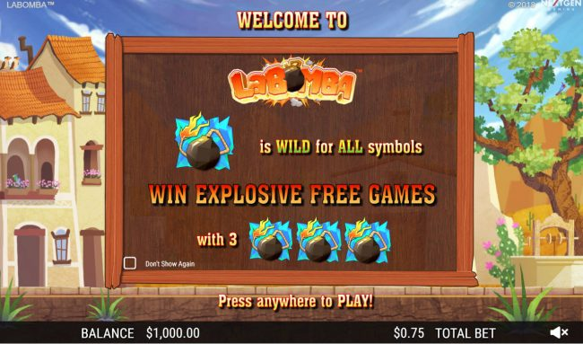 Rose Slots featuring the Video Slots La Bomba with a maximum payout of $12,500