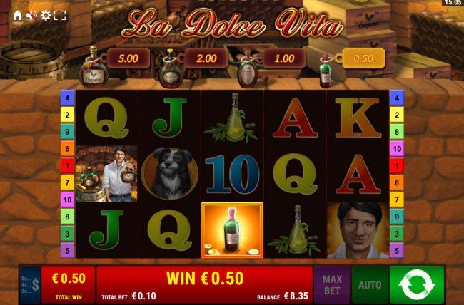 La Dolce Vita :: Free Spins Game Board