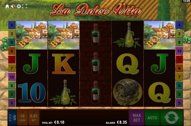 La Dolce Vita :: Scatter win triggers the free spins feature