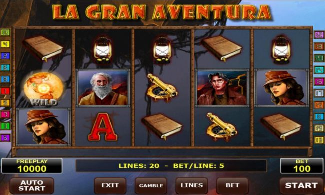Play slots at All British: All British featuring the Video Slots La Gran Aventura with a maximum payout of $50,000