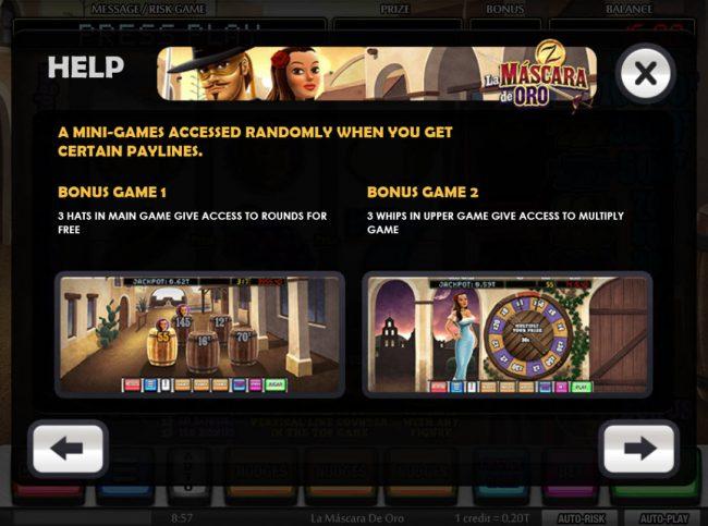 La Mina de Oro :: Bonus Game Rules