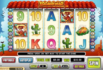 Play slots at Red Stag: Red Stag featuring the Video Slots La Cucharacha with a maximum payout of $100,000