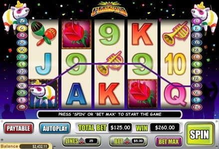 Red Stag featuring the Video Slots La Fiesta with a maximum payout of $100,000