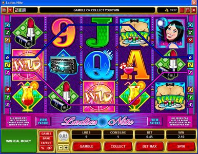 Come On featuring the Video Slots Ladies Nite with a maximum payout of $200,000
