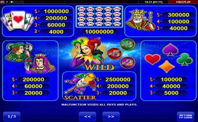 All Irish featuring the Video Slots Lady Joker with a maximum payout of $10,000