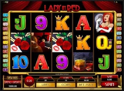 Phoenician featuring the Video Slots Lady in Red with a maximum payout of $25,000