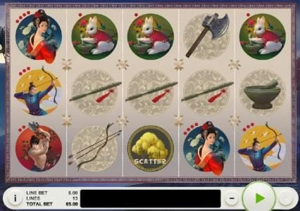 Play slots at Cashi Mashi: Cashi Mashi featuring the Video Slots Lady of the Moon with a maximum payout of $65,000
