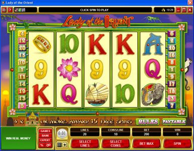 Play slots at Vbet Casino: Vbet Casino featuring the Video Slots Lady of the Orient with a maximum payout of $50,000