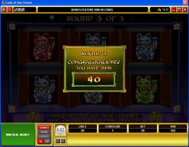 Captain Cooks featuring the Video Slots Lady of the Orient with a maximum payout of $50,000