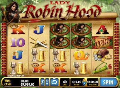 Play slots at All Irish: All Irish featuring the Video Slots Lady Robin Hood with a maximum payout of $1,000