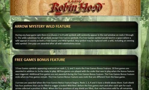 arrow mystery wild feature