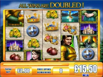 Videoslots featuring the Video Slots Lancelot with a maximum payout of $5,000