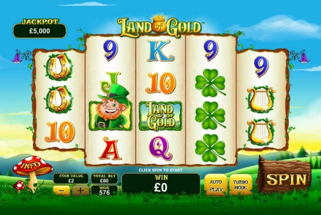 AC Casino featuring the Video Slots Land of Gold with a maximum payout of $3,000