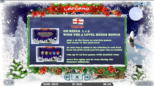 Viggoslots featuring the Video Slots Lapland with a maximum payout of $100,000